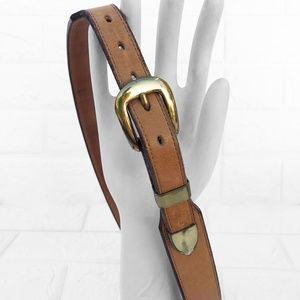 Justin's Mulehide Western Brown Leather Belt 32